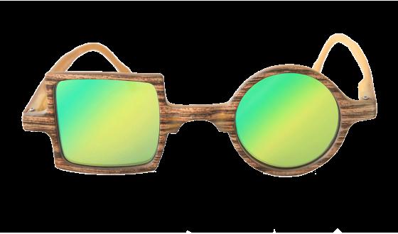 Sunglasses Mirror Patchwork Wood effect