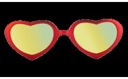 Lunettes de soleil Flamingo - Rouge passion effet miroir
