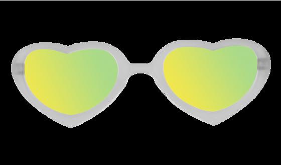 Lunettes de soleil Flamingo - Blanc crystal effet miroir