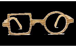 Lunettes de protection écran Patchwork - Effet bois sans correction