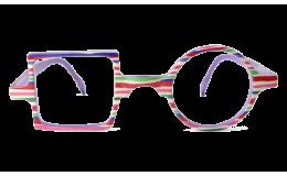 Lunettes de protection écran Patchwork - Strié violet et rose sans correction