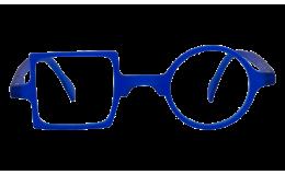 Lunettes de protection écran Patchwork - Bleu klein sans correction