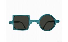 Lunettes de soleil Patchwork - Cyan blue