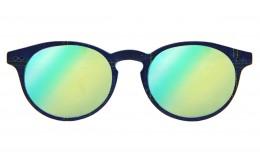Lunettes de soleil Tradition - Bleu jeans effet miroir