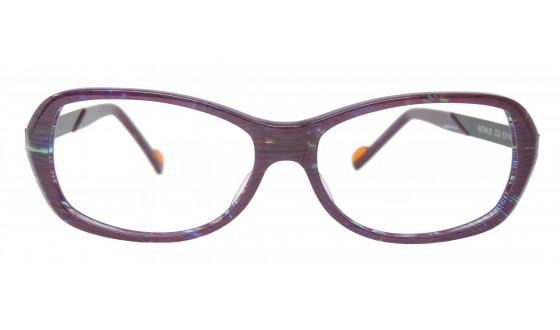 Lunettes optique Nathalie - Marble plum