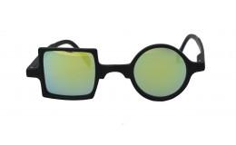 Sunglasses Mirror Patchwork - Mate Black
