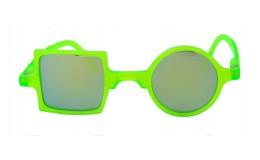 Sunglasses Mirror Patchwork - Neon green
