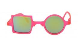 Sunglasses Mirror Patchwork - Neon pink